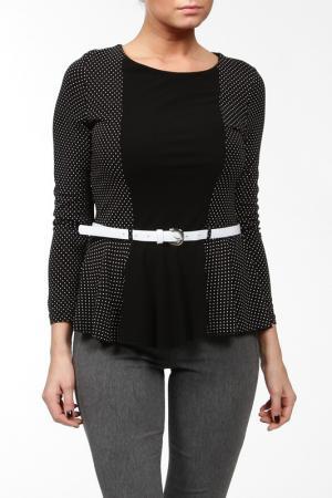 Блуза с ремнем Alkis. Цвет: черный