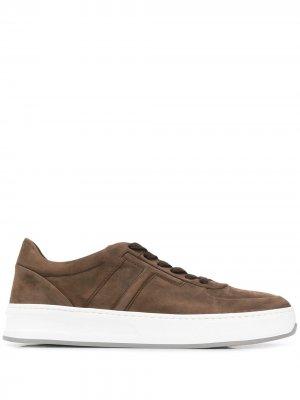 Tods кеды на шнуровке Tod's. Цвет: коричневый