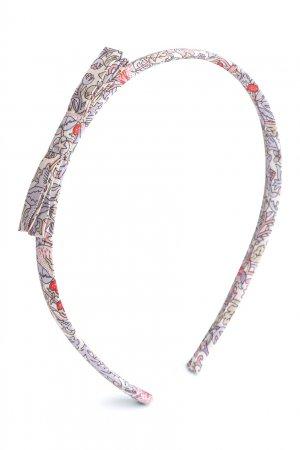Ободок жемчужного цвета с принтом Bonpoint. Цвет: multicolor