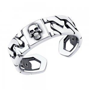 Кольцо из чернёного серебра SKLV