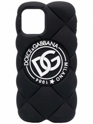 Чехол для iPhone 12/12 Pro с логотипом Dolce & Gabbana. Цвет: черный