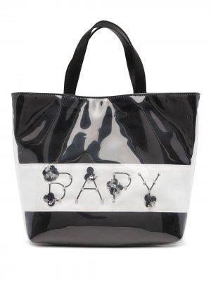 Transparent-detail logo tote bag BAPY BY *A BATHING APE®. Цвет: черный