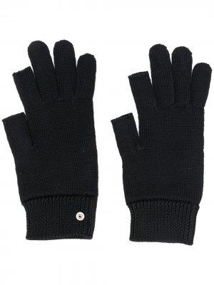 Перчатки-митенки Rick Owens. Цвет: черный