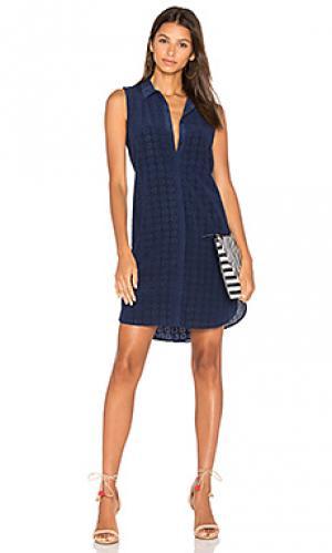 Платье janna Equipment. Цвет: синий