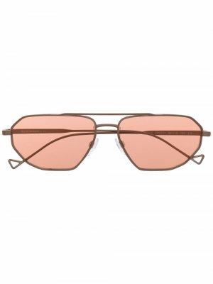 Square aviator sunglasses Emporio Armani. Цвет: нейтральные цвета