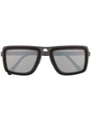 Солнцезащитные очки Hope в квадратной оправе Philipp Plein. Цвет: черный