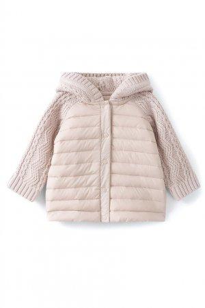 Куртка с трикотажными рукавами и капюшоном Pépito Bonpoint. Цвет: серый