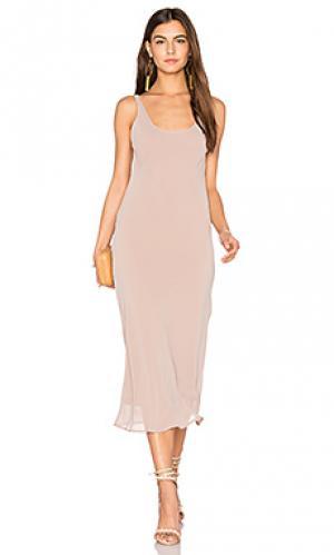 Платье с оверлеем ely Line & Dot. Цвет: серо-коричневый