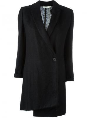 Асимметричное пальто Romeo Gigli Pre-Owned. Цвет: черный