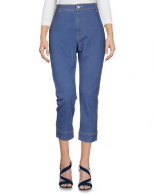 Джинсовые брюки-капри SONIA DE NISCO. Цвет: пастельно-синий