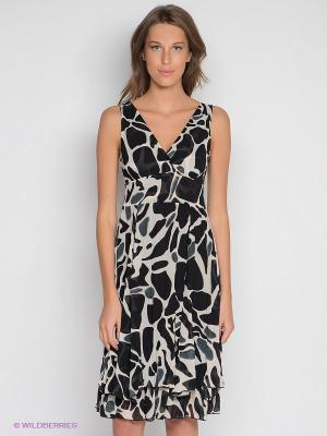 Платье DRS Deerose. Цвет: молочный, черный