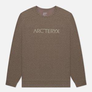 Мужская толстовка Mentum Centre Arcteryx. Цвет: коричневый