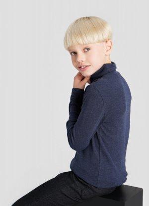 Трикотажный свитер для мальчиков O`Stin. Цвет: глубокий синий