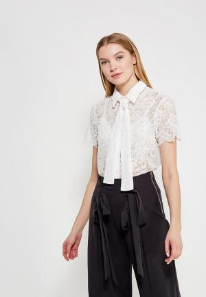 Блуза Lost Ink Petite P LACE PUSSY BOW SHIRT. Цвет: белый