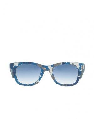 Солнечные очки CARE LABEL. Цвет: синий