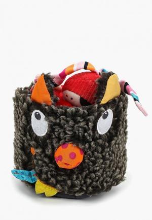 Игрушка мягкая Ebulobo Волчонок в шляпе. Цвет: серый