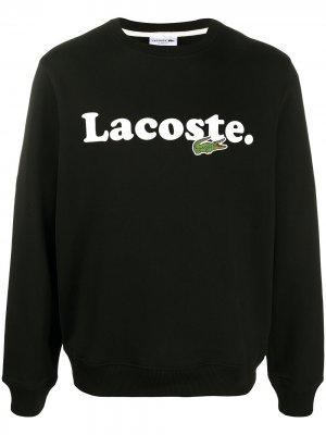 Толстовка с логотипом Lacoste. Цвет: черный