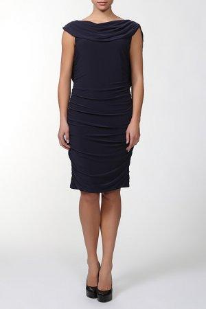 Платье TIA. Цвет: темно-синий