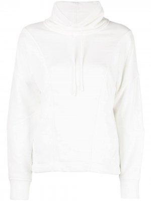 Пуловер с воротником на шнурке Vince. Цвет: белый