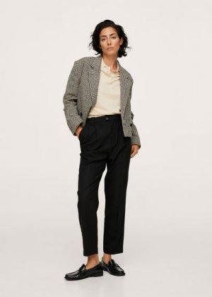 Прямые брюки с защипами - Celia Mango. Цвет: черный
