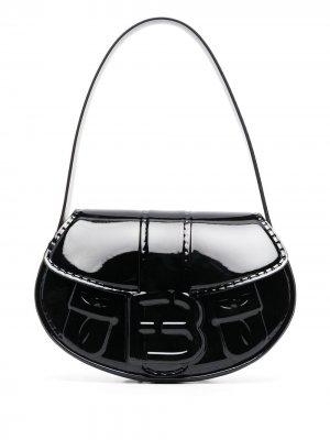 Лакированная сумка на плечо forBitches. Цвет: черный