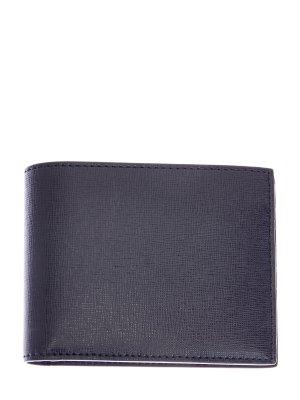 Складное портмоне из кожи saffiano CANALI. Цвет: черный