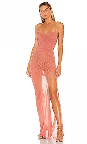 Вечернее платье без бретелек follie Michael Costello. Цвет: сиреневый