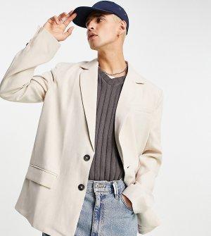 Бежевый блейзер унисекс в винтажном стиле (от комплекта) Inspired-Серый Reclaimed Vintage
