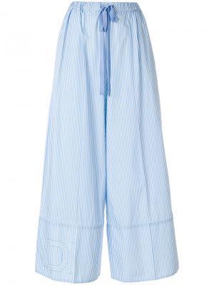 Широкие полосатые брюки Fendi. Цвет: синий