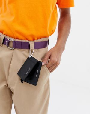 Кожаная визитница с карманом на молнии -Черный ASOS DESIGN