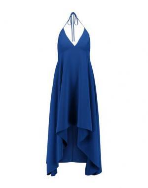 Короткое платье HALSTON. Цвет: ярко-синий