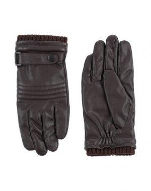 Перчатки TRUSSARDI JEANS. Цвет: темно-коричневый