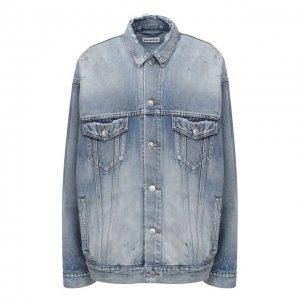 Джинсовая куртка Balenciaga. Цвет: синий