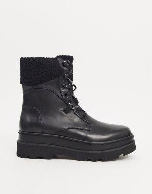Черные походные ботинки с отделкой -Черный цвет Ash