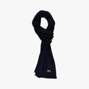 Шапки, шарфы и перчатки Шарф Lacoste. Цвет: темно-синий