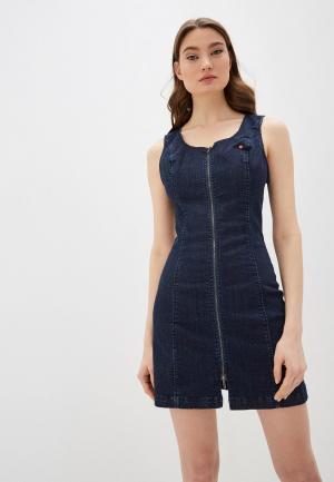 Платье джинсовое True Religion Manchester capsule. Цвет: синий