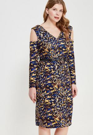 Платье LOST INK PLUS BODYCON DRESS IN GRAPHIC ANIMAL WITH BELT. Цвет: разноцветный