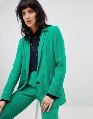 Приталенный блейзер BA&SH. Цвет: зеленый