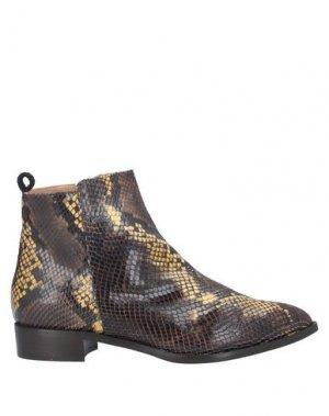 Полусапоги и высокие ботинки LORENA PAGGI. Цвет: коричневый