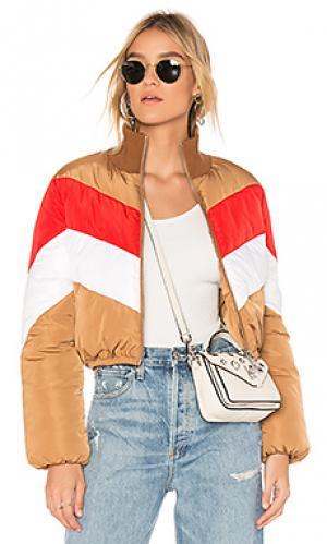 Объемная куртка в полоску senna Tularosa. Цвет: nude
