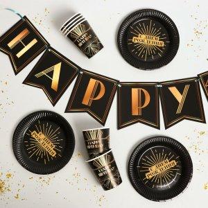Набор бумажной посуды happy party, 6 тарелок, стаканов, 1 гирлянда Страна Карнавалия