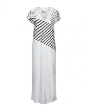 Длинное платье 8PM. Цвет: белый