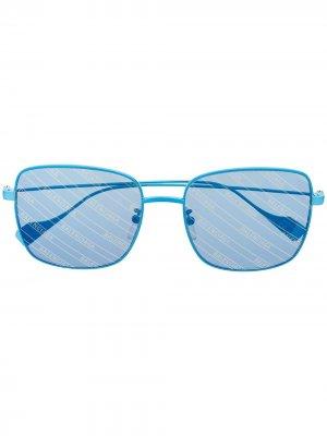 Ghost square-frame sunglasses Balenciaga Eyewear. Цвет: синий