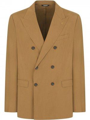 Костюм с двубортным пиджаком Dolce & Gabbana. Цвет: коричневый
