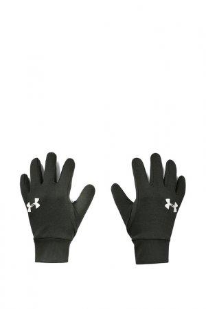 Перчатки Under Armour. Цвет: зеленый