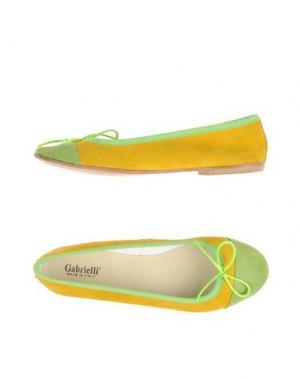 Балетки GABRIELLI. Цвет: желтый