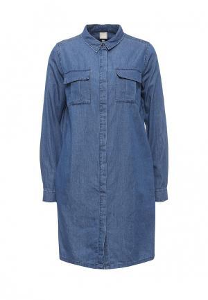 Платье Bench. Цвет: синий
