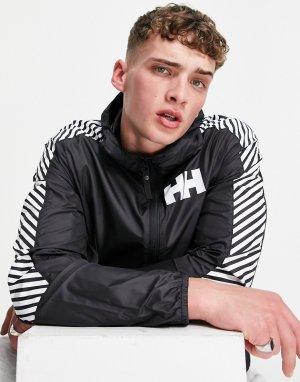 Черная спортивная ветровка -Черный цвет Helly Hansen