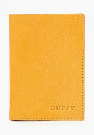 Обложка для паспорта Duffy. Цвет: желтый