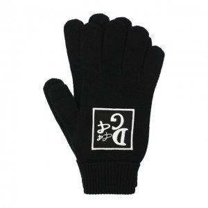 Шерстяные перчатки Dolce & Gabbana. Цвет: чёрный